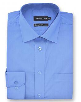 Cornflower Blue Long Sleeved Non-Iron Shirt