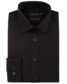 Black Long Sleeve Non-Iron Shirt