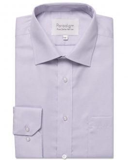 Lilac Single Cuff Pure Cotton Non Iron Shirt