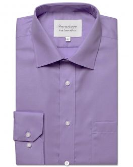 Purple Single Cuff Pure Cotton Non Iron Shirt