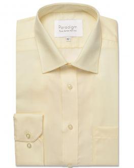 Cream Luxury Pure Cotton Non Iron Shirt