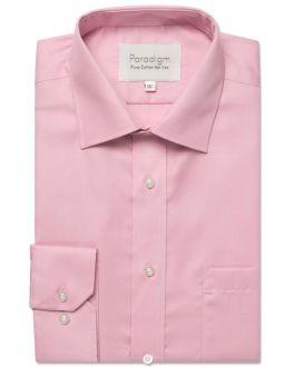 Slim Fit Pale Pink Pure Cotton Non Iron Shirt