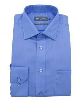 Mid Blue Single Cuff Pure Cotton Non Iron Shirt