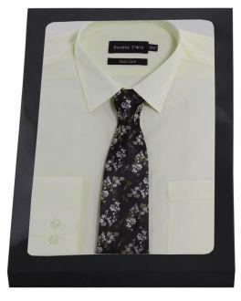 Cream Formal Shirt  Set