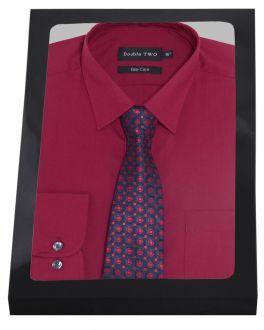 Plain Burgundy Formal Shirt Set