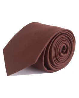 Brown Herringbone Bamboo Tie