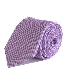 Lilac and White Check Bamboo Tie