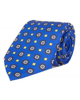 Blue Printed Spotted Tie