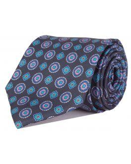 Blue Printed Multi-Patterned Tie