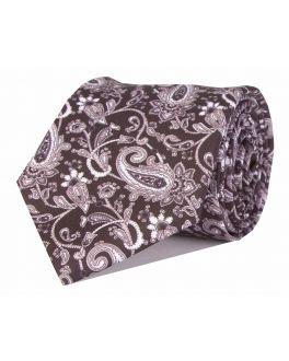 Black & White Printed Paisley Patterned Tie