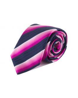 Pink Stripe Silk Tie