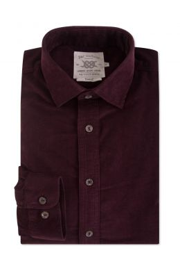 Burgundy Corduroy Casual Shirt