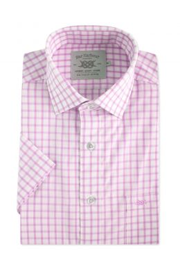 Pink Healy Check Short Sleeve Casual Shirt