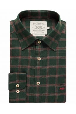 Green and Red Carlise Check Casual Shirt