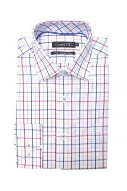 Maroon Summer Tattersall Check Formal Shirt