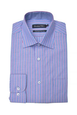Blue, White and Magenta Candy Stripe Formal Shirt