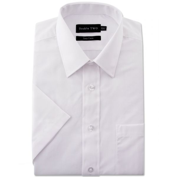 White Classic Easy Care Short Sleeve Shirt