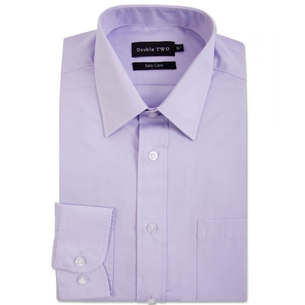 Lilac Classic Easy Care Long Sleeve Shirt