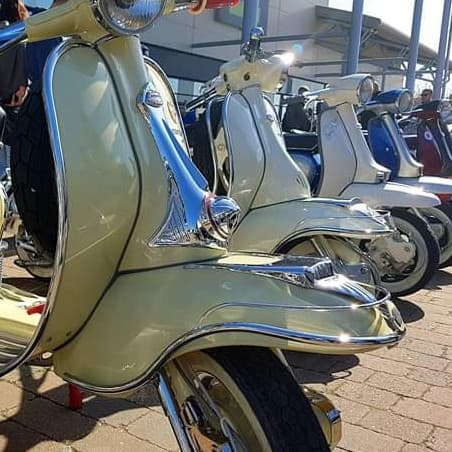 Lambretta Scooters line up for our Clothing Event