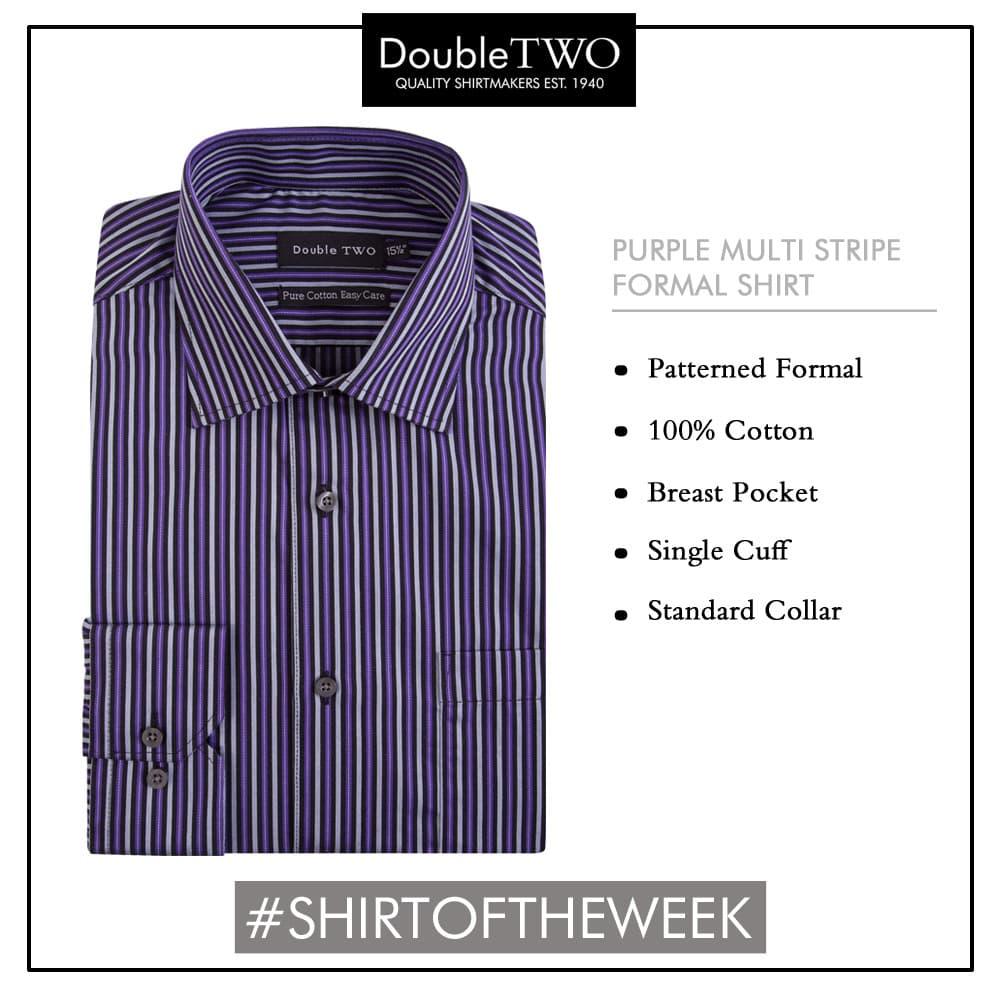 Shirt of the Week: Men's Purple Multi Stripe Formal Shirt