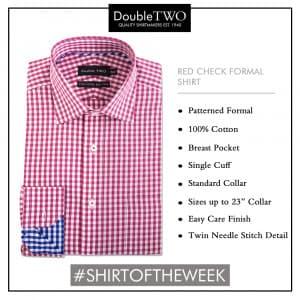 Shirt of the Week: Men's Red Check Formal Shirt