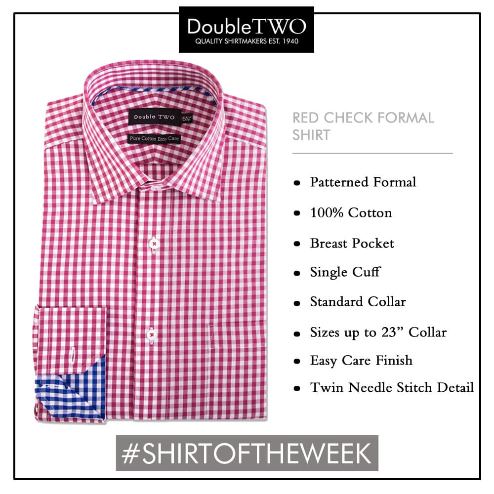 Shirt of the Week: Men's Red Check Formal Shirt