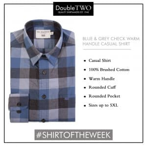 Shirt of the Week: Men's Casual Warm Handle Checked Shirt