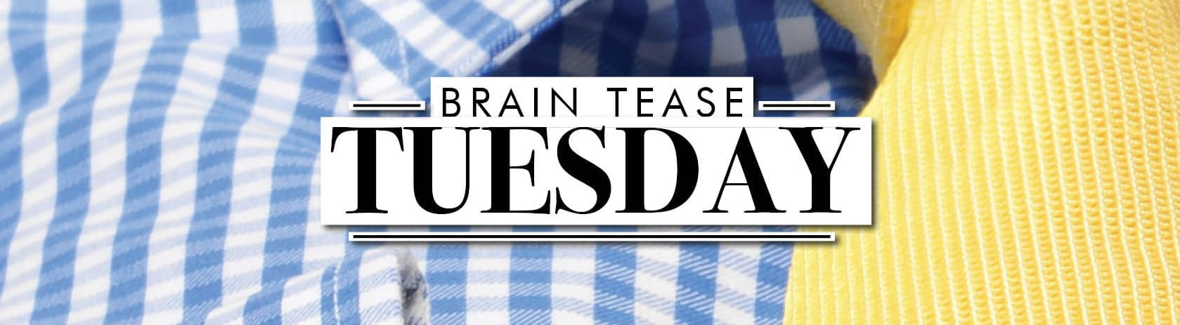 Brain Tease Tuesday Week 17