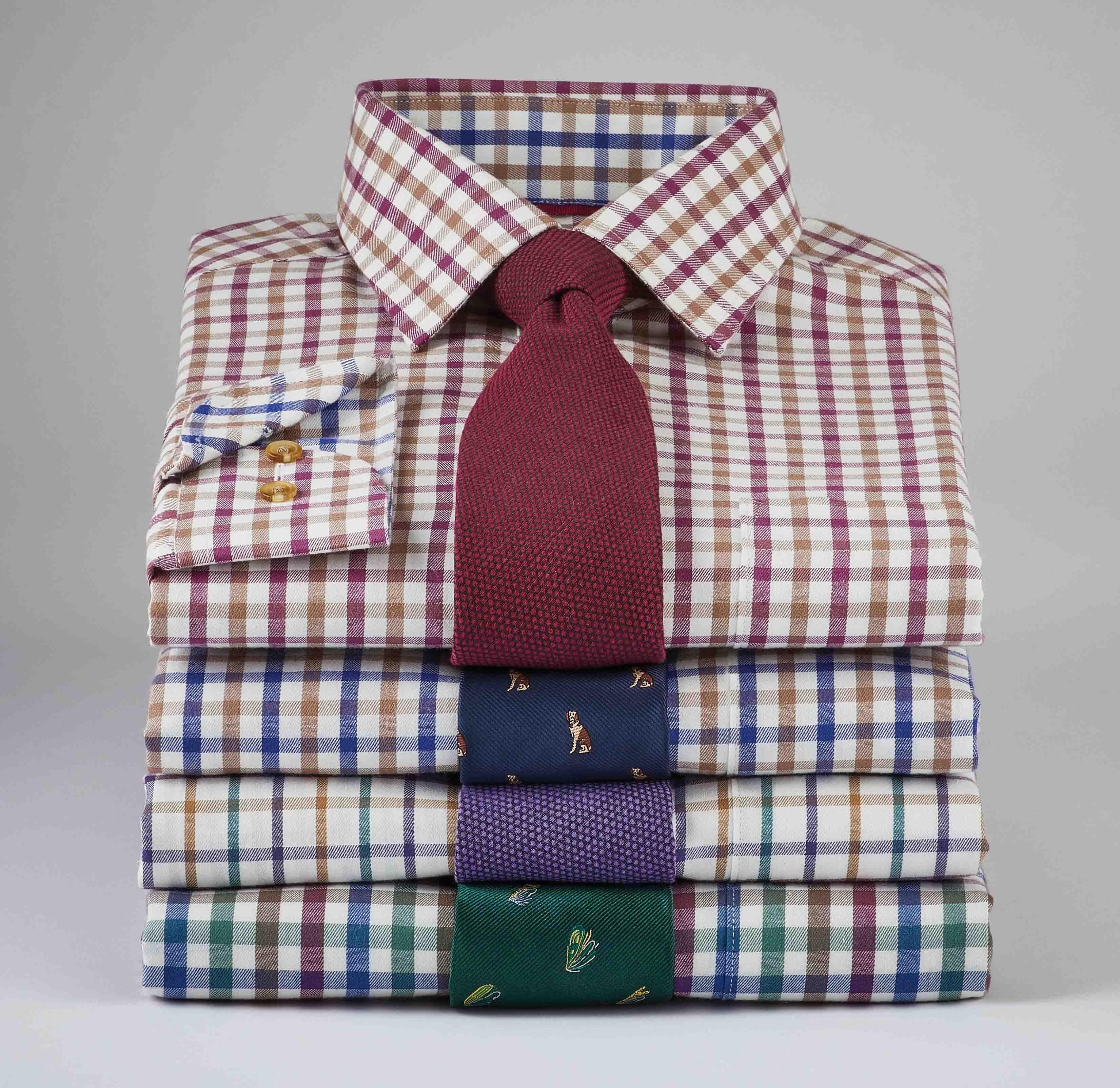 Shop Men's Warm Handle Brushed Cotton Shirts