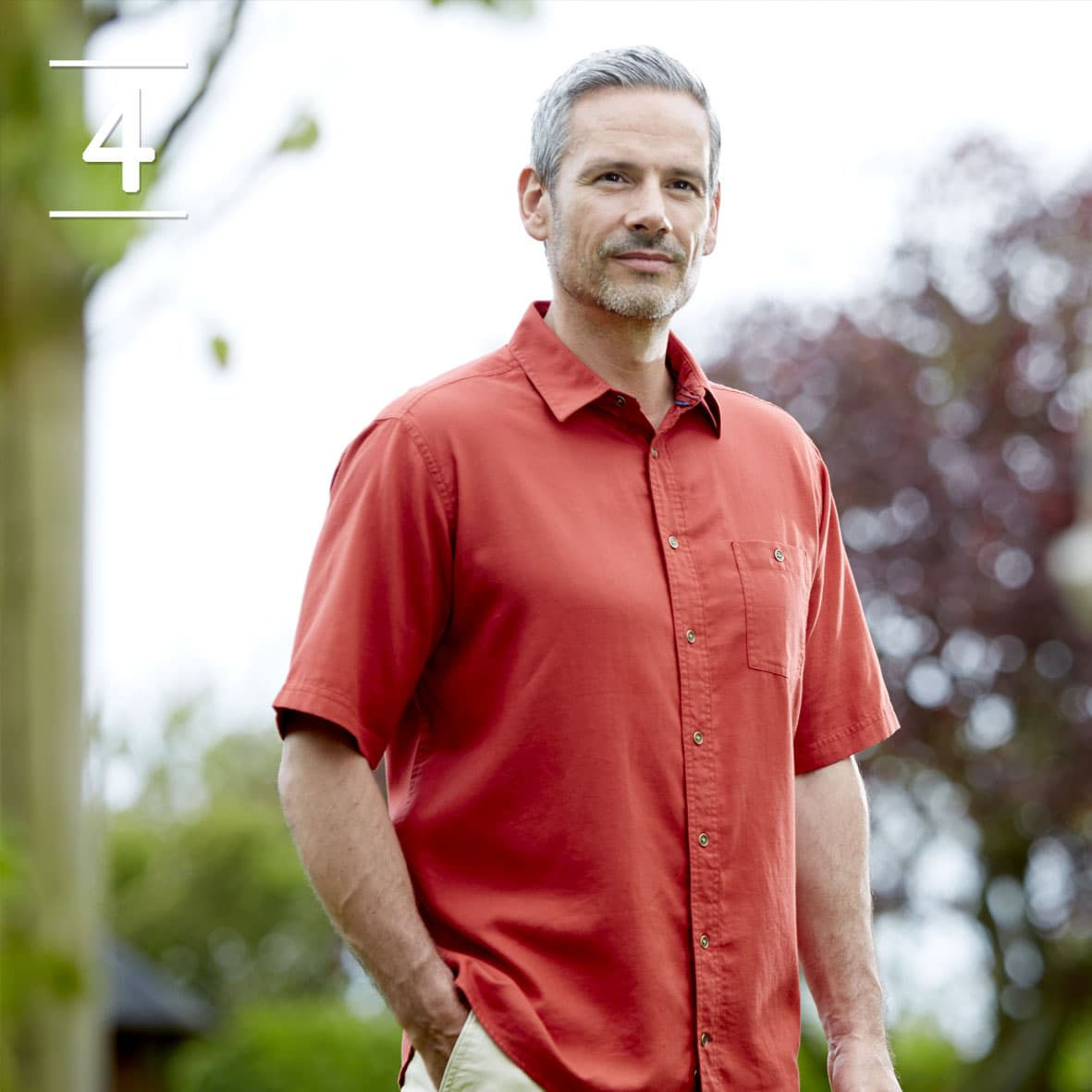 Red Short Sleeved Casual Shirt