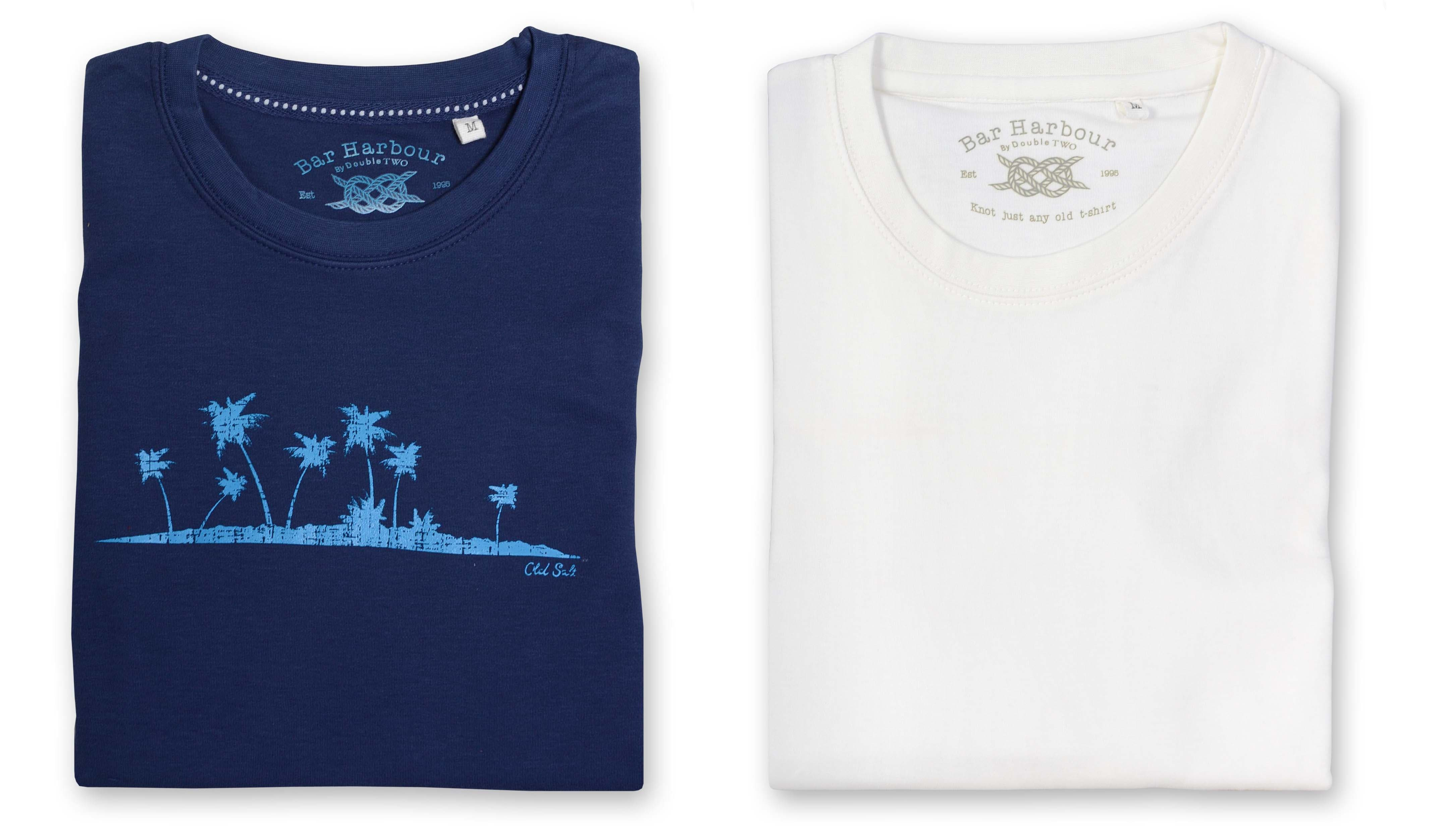 Shop Bar Harbour by Double TWO Casual T-Shirts. Perfect for Glastonbury!