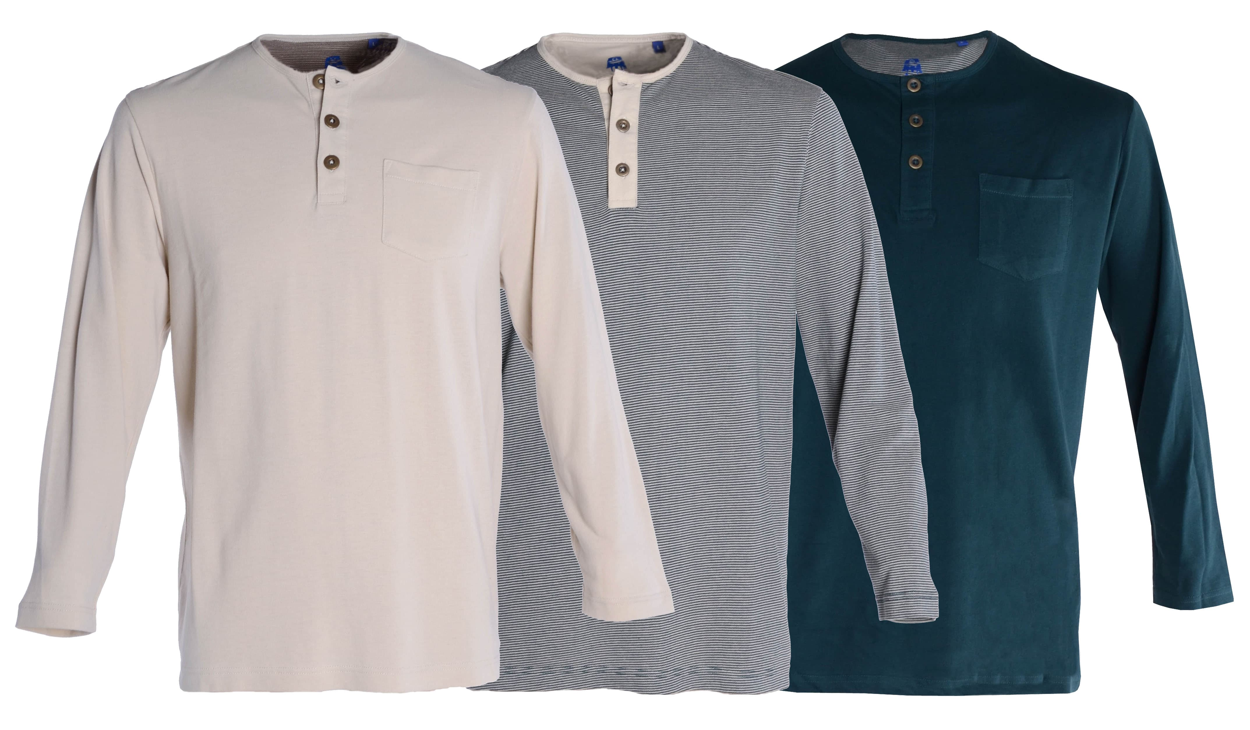 Double TWO Henley Tops