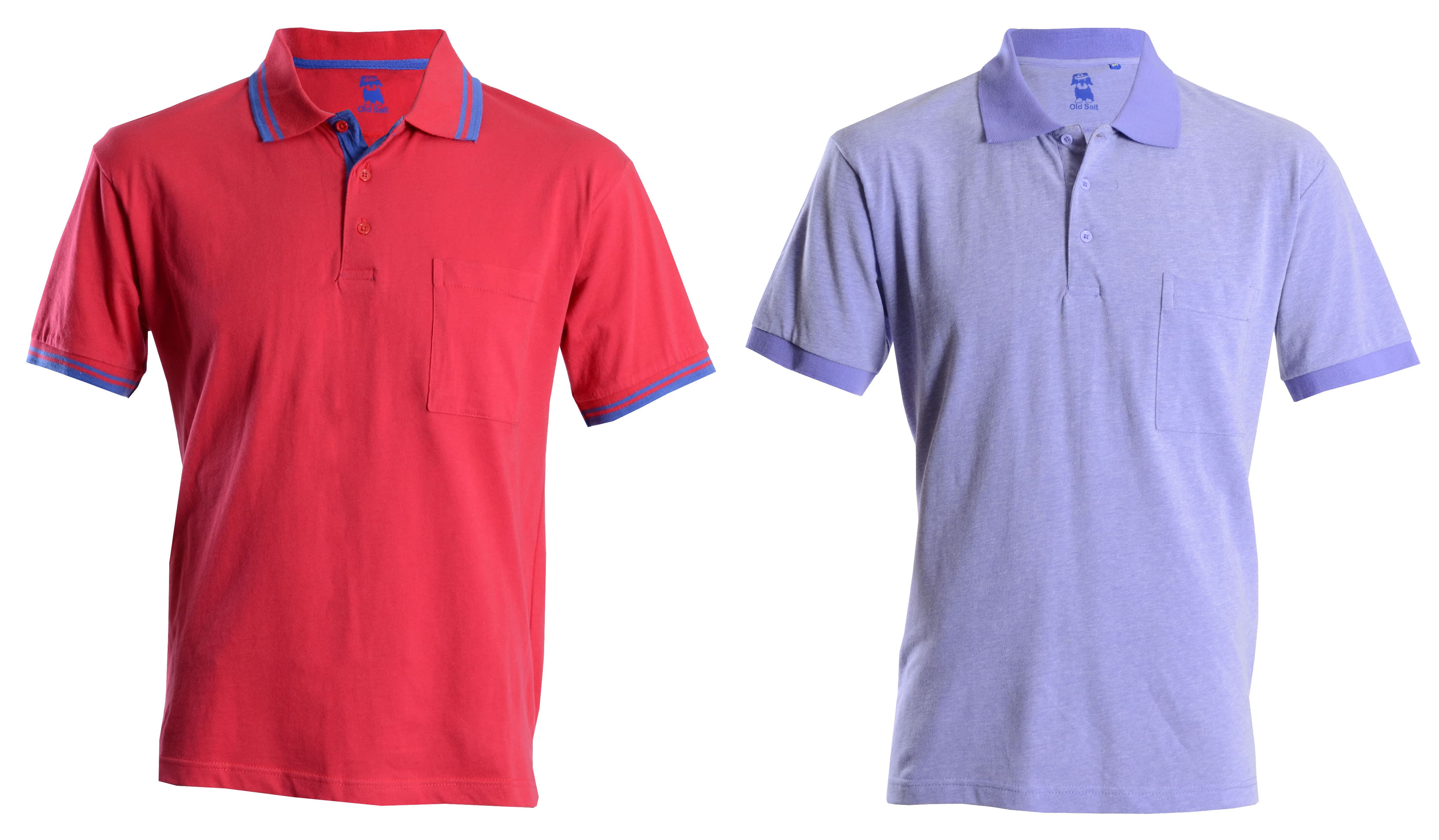 Shop Old Salt Polo Shirts by Double TWO - Perfect for a round of Golf!