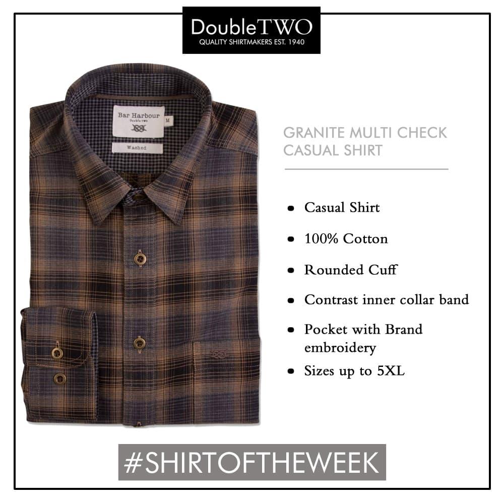 Shop Men's 100% Cotton Granite Check Casual Shirt