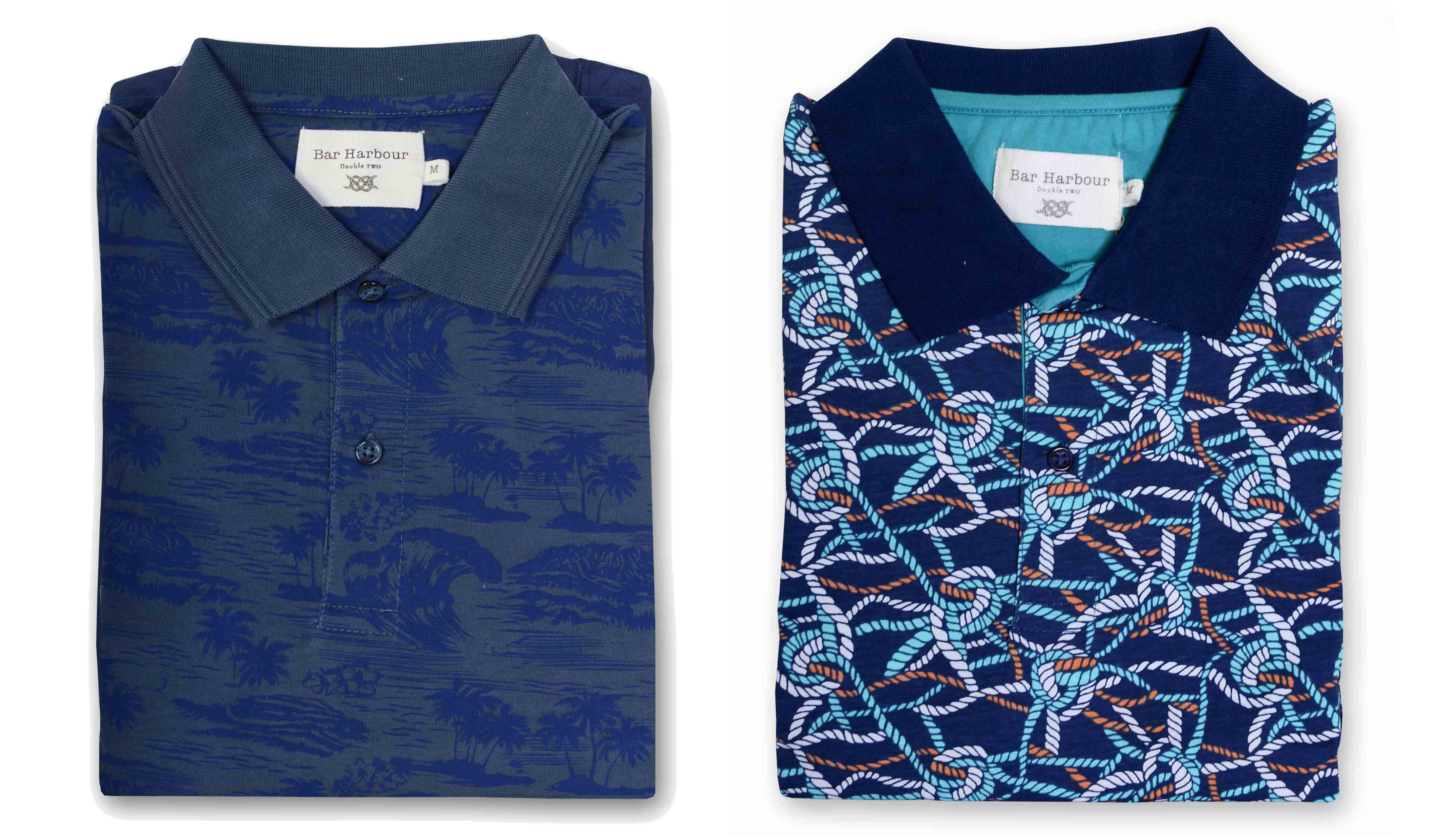 Patterned Wimbledon Tennis inspired Polo Shirts