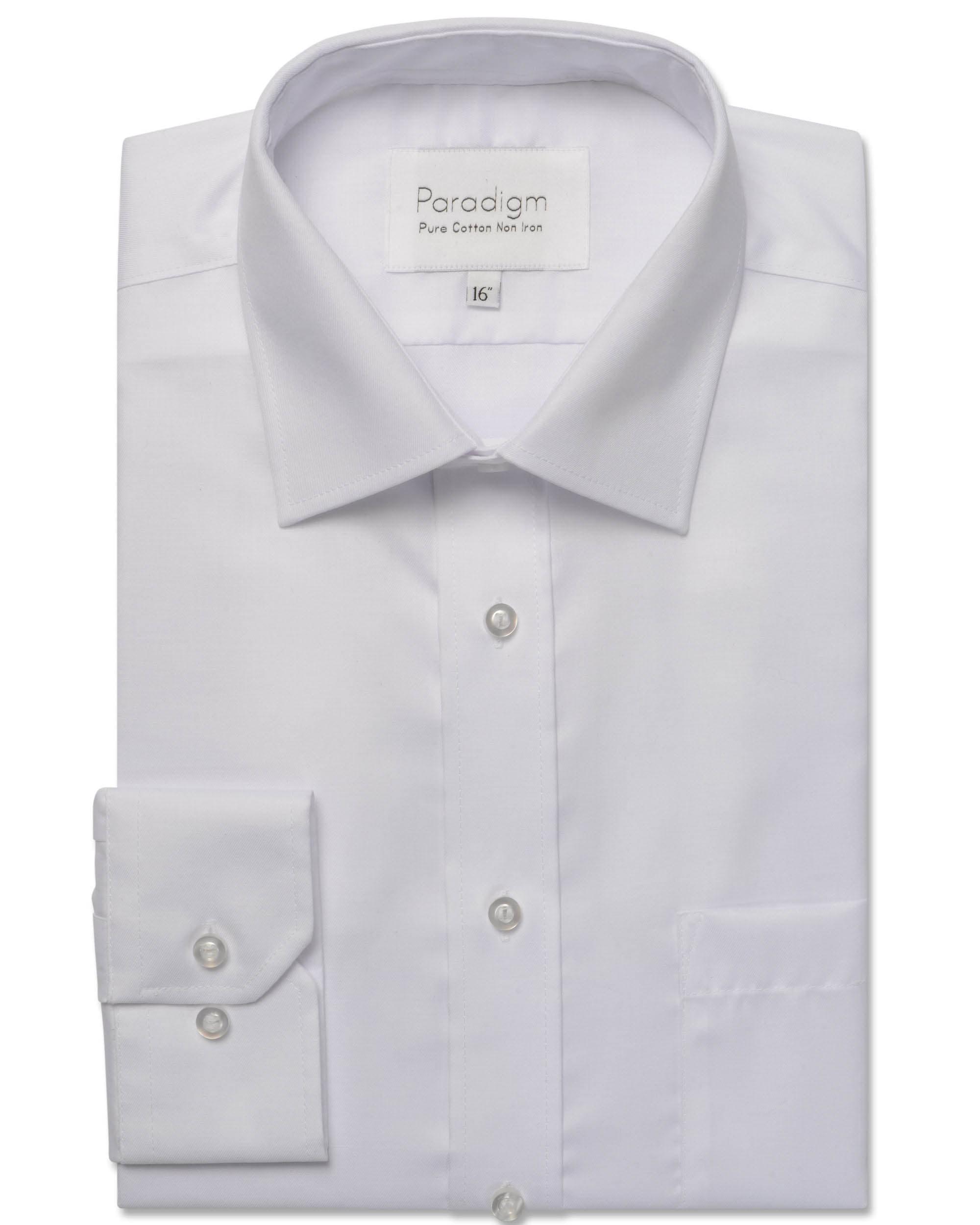 White Non-Iron 100% Cotton White Shirt