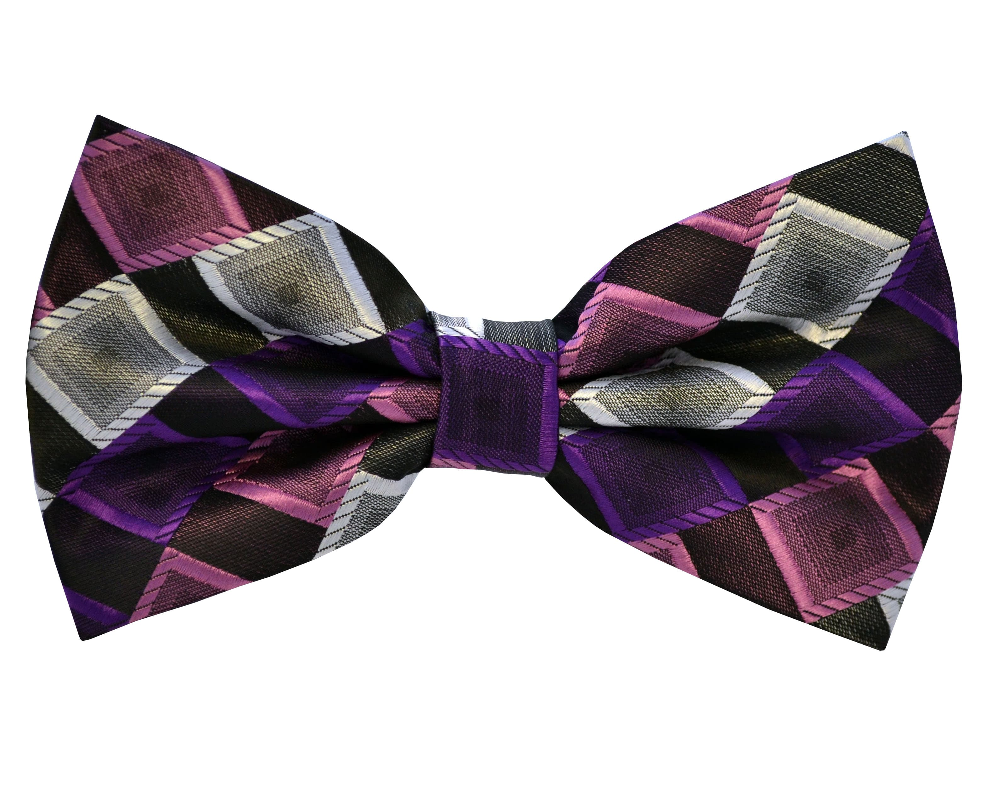 Shop Double TWO Pink and Purple Patterned Bow Tie