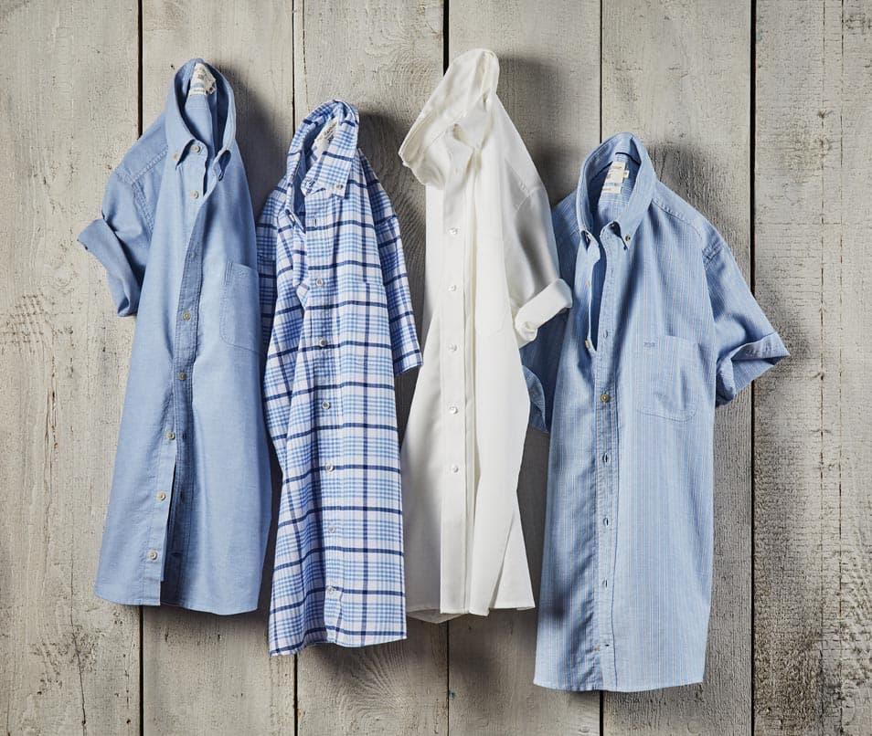 Shop cotton Oxford Shirts to wear in a summer heatwave