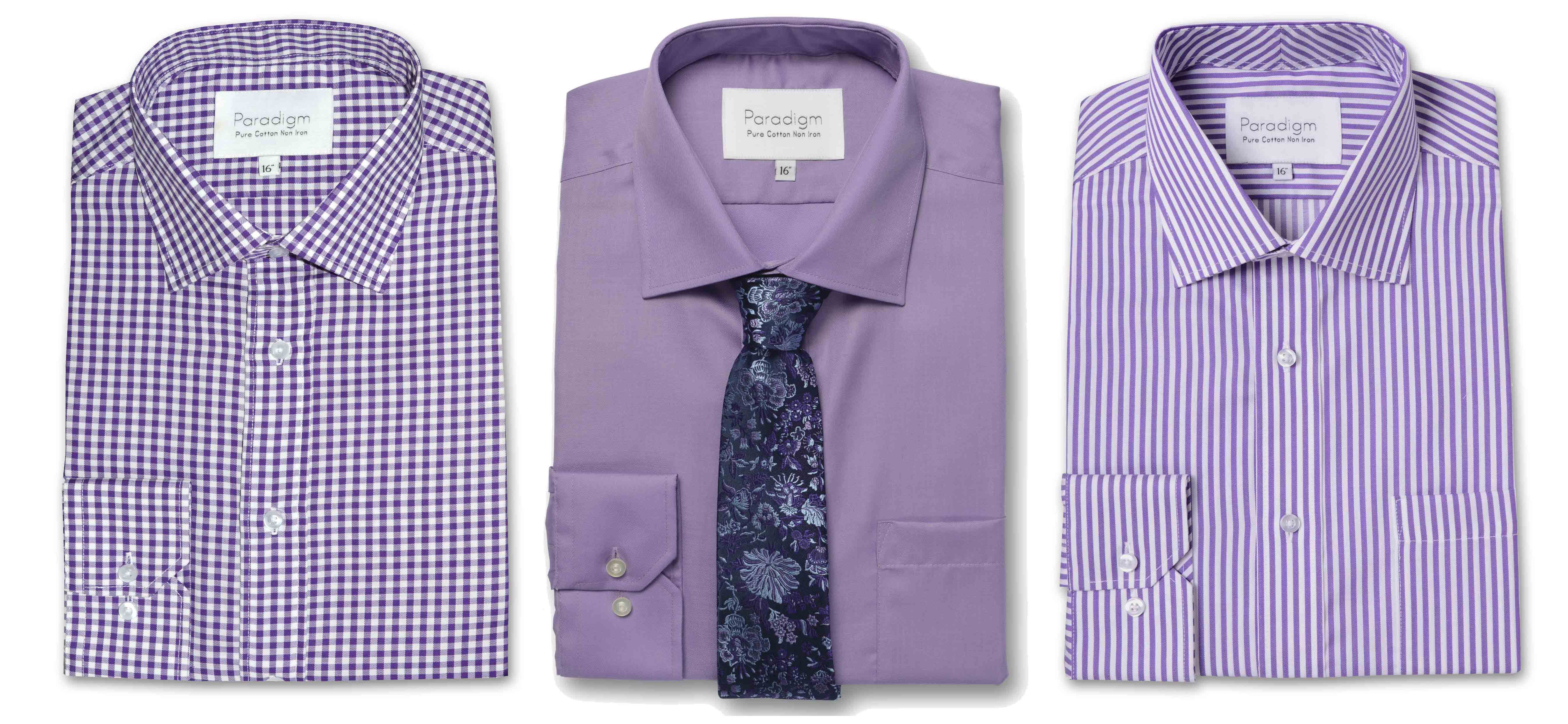 Shop Double TWO Paradigm Shirts in Purple