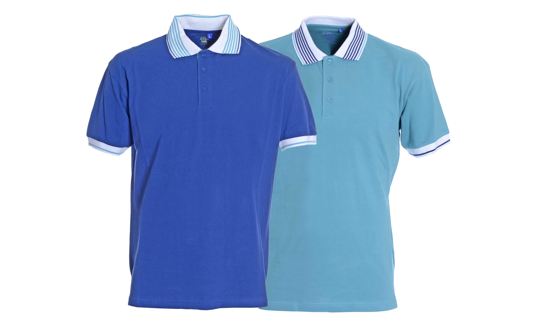 Plain Wimbledon Tennis inspired polo shirts