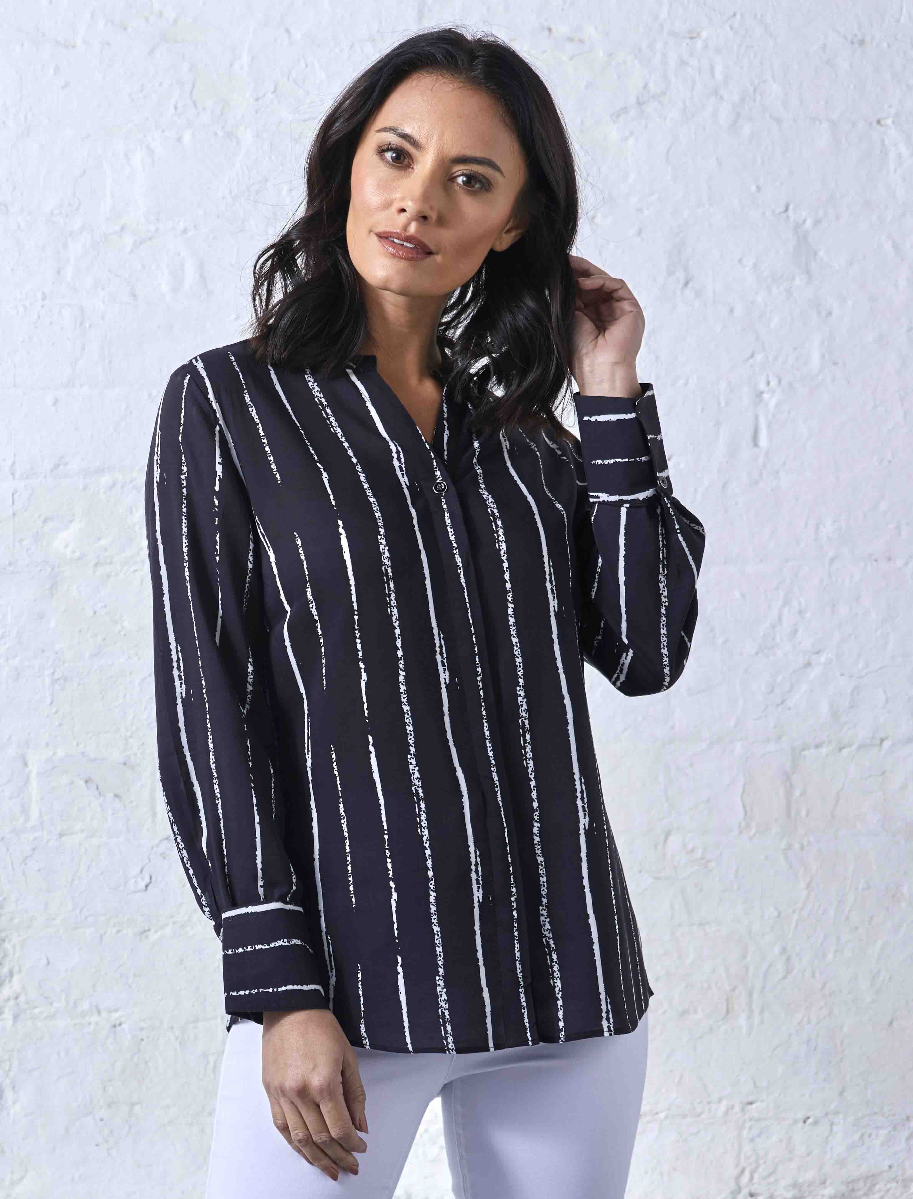Double TWO Women's Work Shirts and Blouses