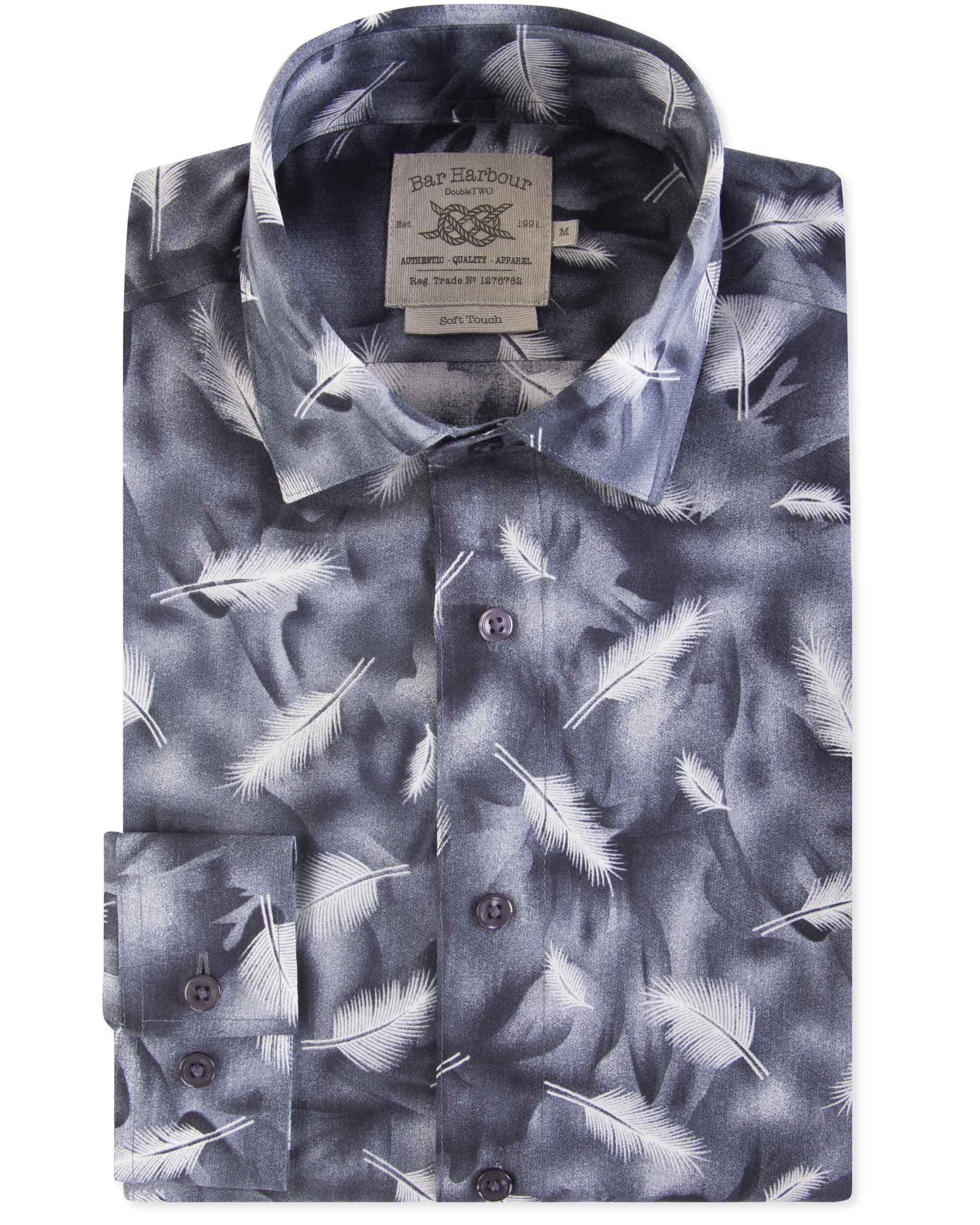 Feather Patterned Soft Touch Shirt