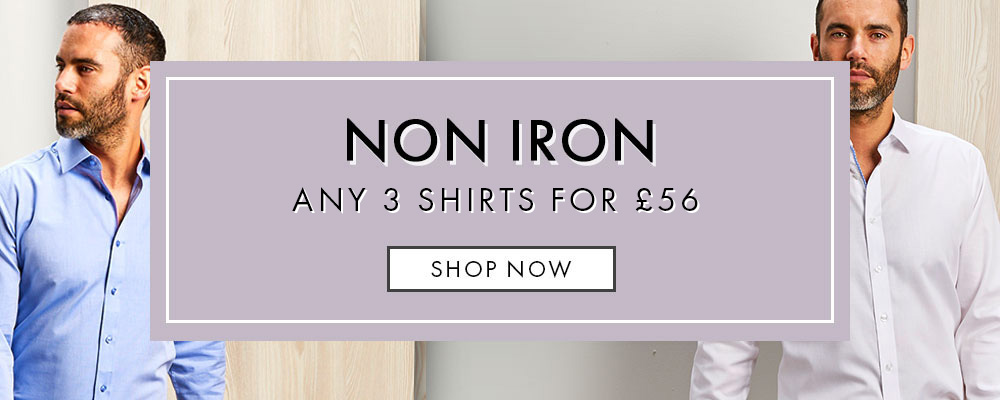 3 Non Iron Shirts For £56 Offer