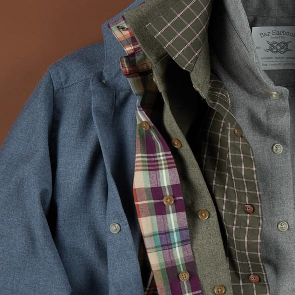 Shop Double TWO Bar Harbour Casual Shirts