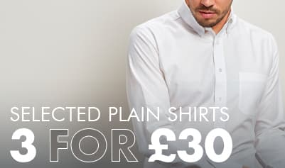 Plain Shirts 3 for £30