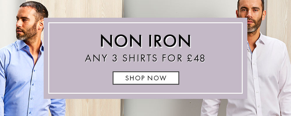 3 Non Iron Shirts For £48 Offer